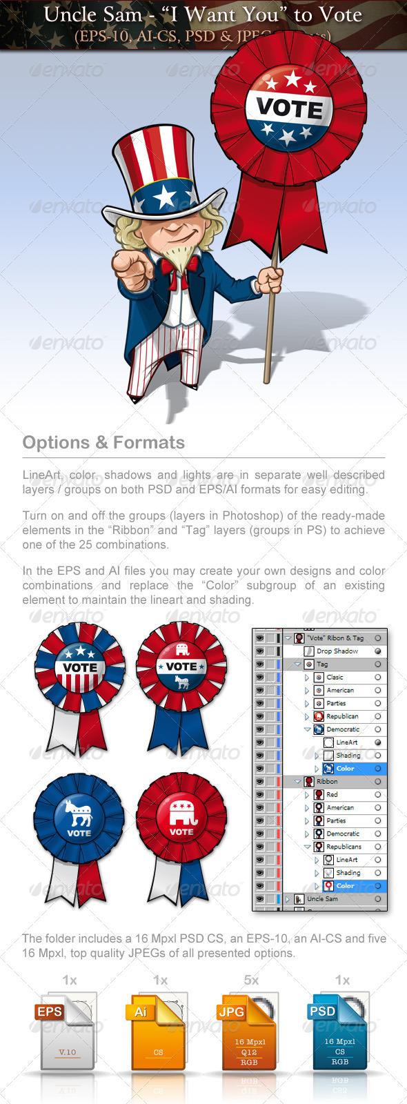 GraphicRiver Uncle Sam Vote 7703739