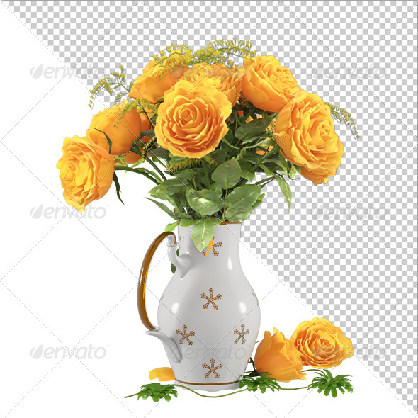 GraphicRiver Flowers Yellow Rose 7703745