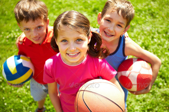 PhotoDune Young football players 787640