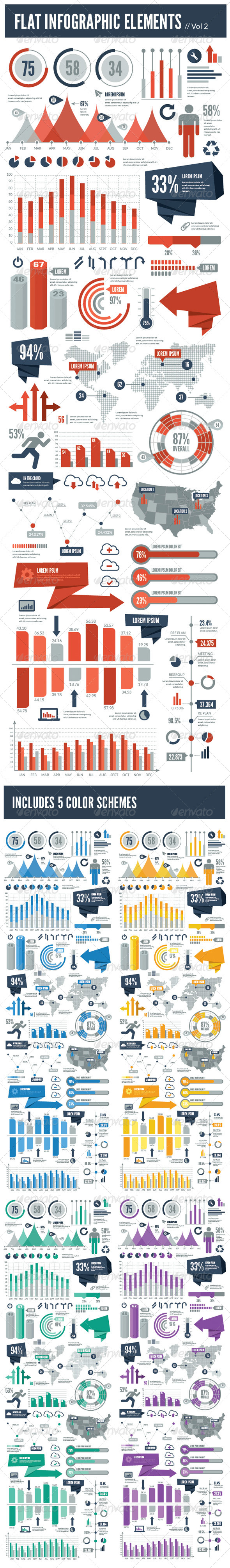 GraphicRiver Flat Vector Infographic Elements Vol 2 7703771