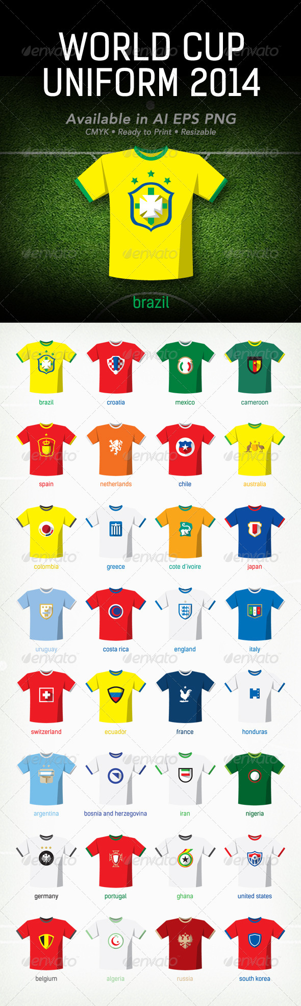 GraphicRiver World Cup 2014 Uniform 7704501