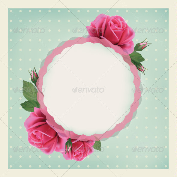 GraphicRiver Card with Roses 7704849