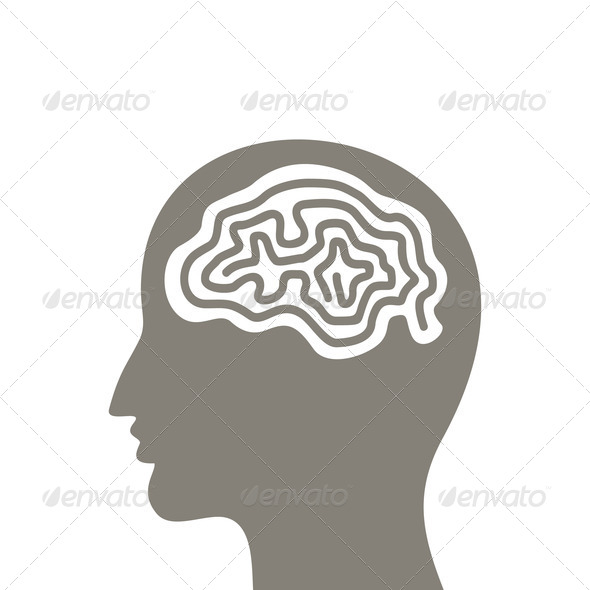 Head a brain - Stock Photo - Images