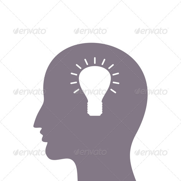 Head a bulb - Stock Photo - Images
