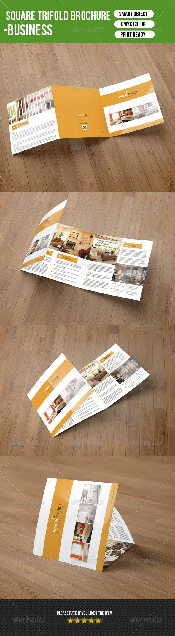 GraphicRiver Square Trifold Brochure-Interior Design 7704958