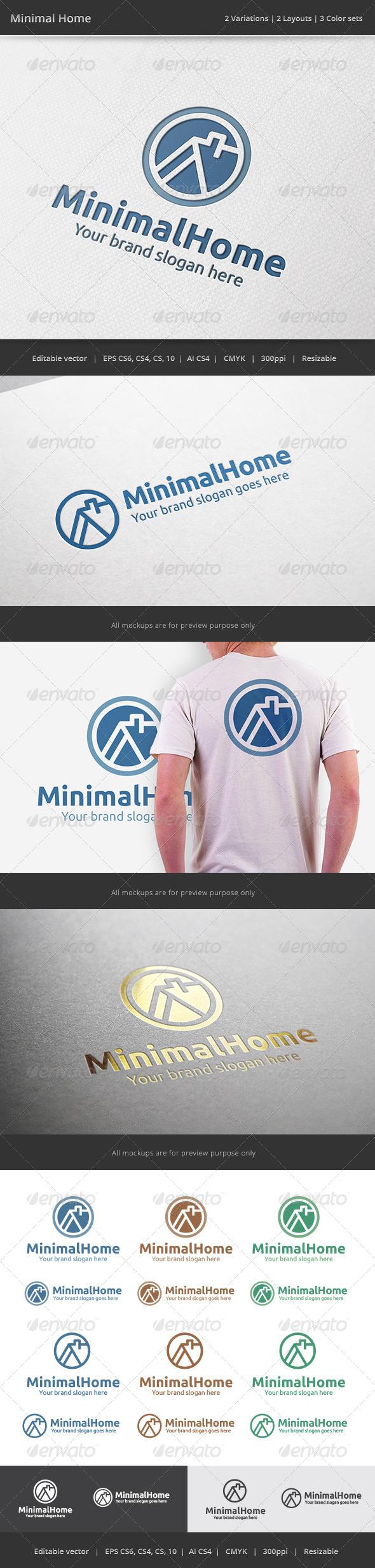 GraphicRiver Minimal Home Logo 7704964