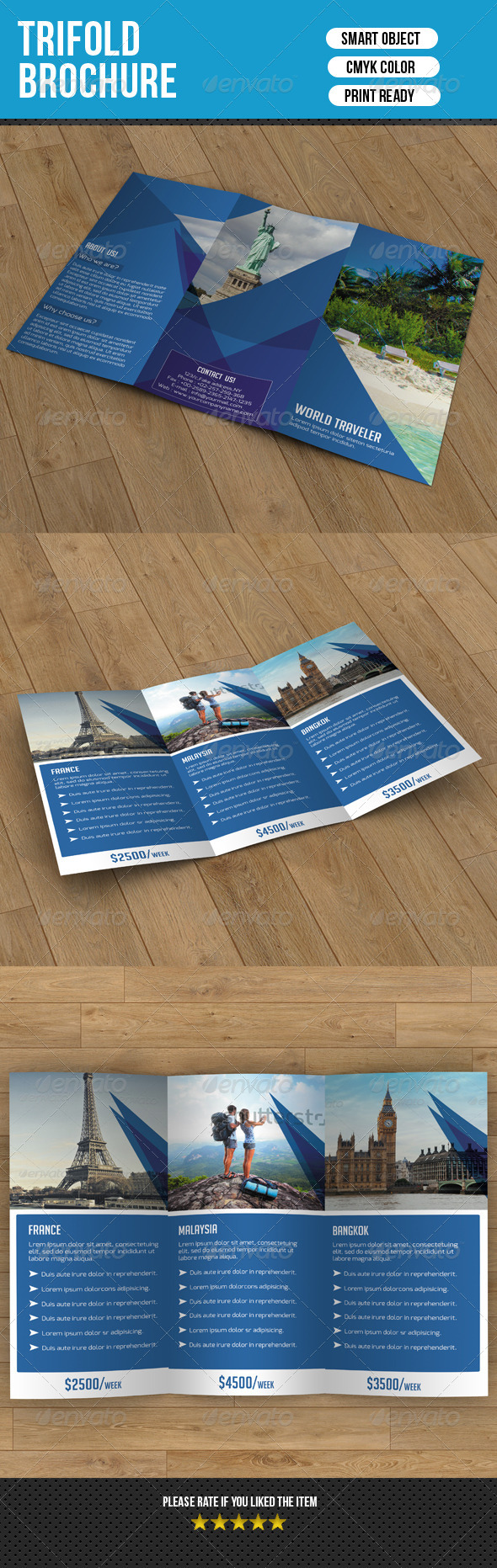 GraphicRiver Trifold Brochure-Business 7705015