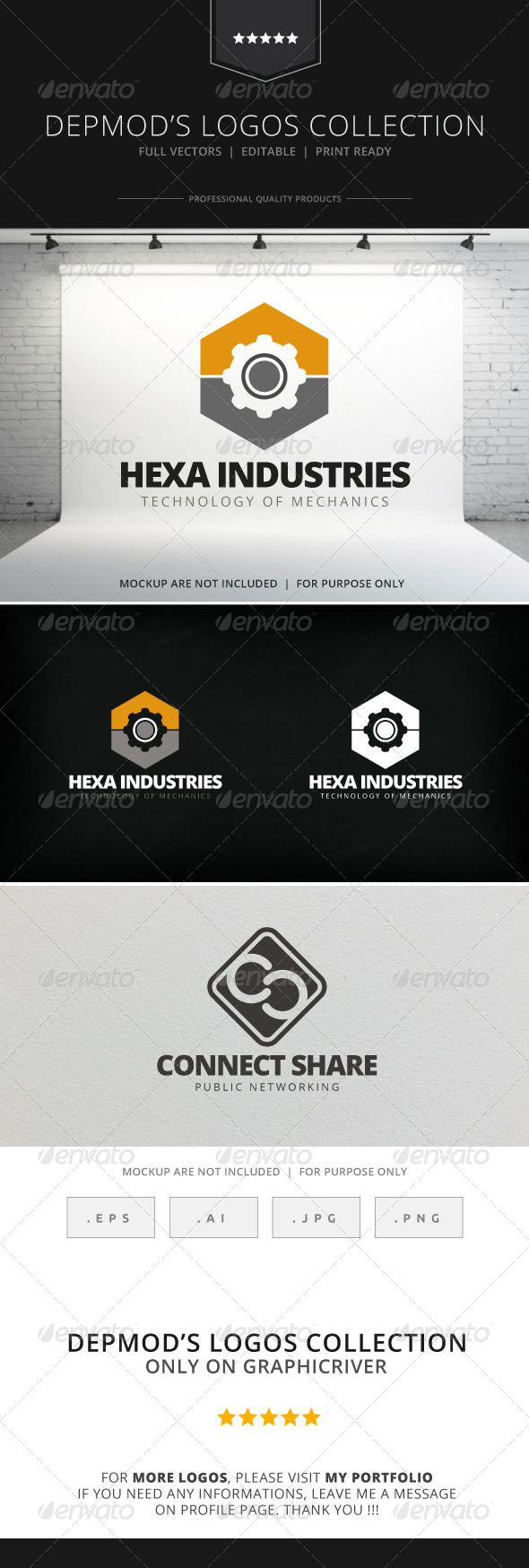 GraphicRiver Hexa Industries Logo 7705016