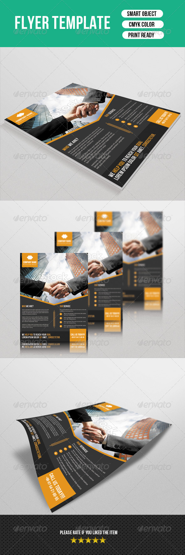 GraphicRiver Corporate Flyer Template 7705129