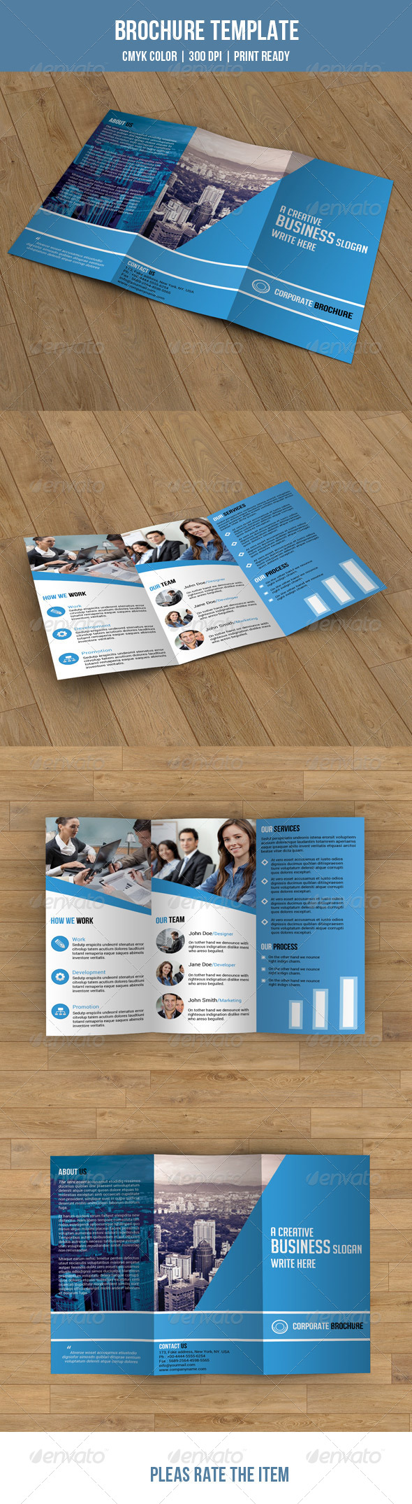 GraphicRiver Trifold Brochure-Business 7705184