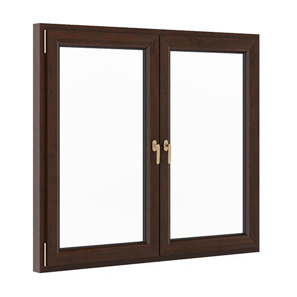 3DOcean Wooden Window 1730mm x 1500mm 7705207