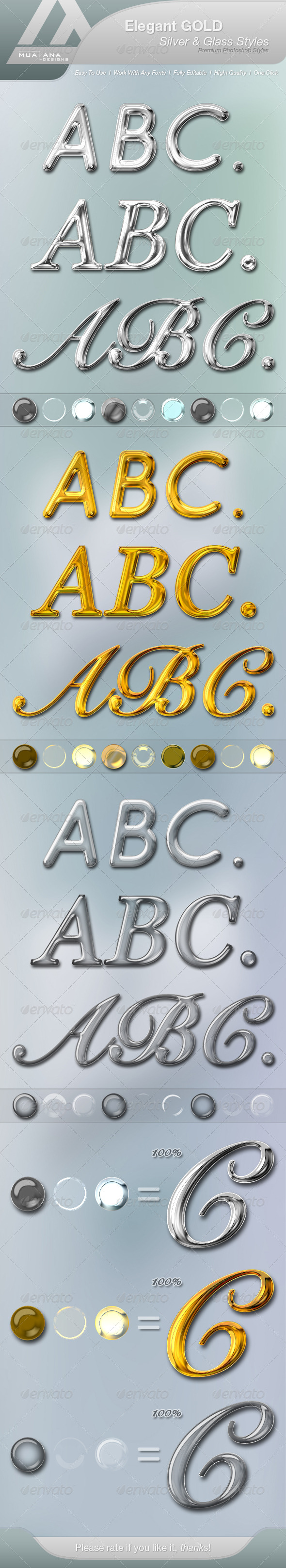GraphicRiver Elegant Gold Silver & Glass Styles 7705345