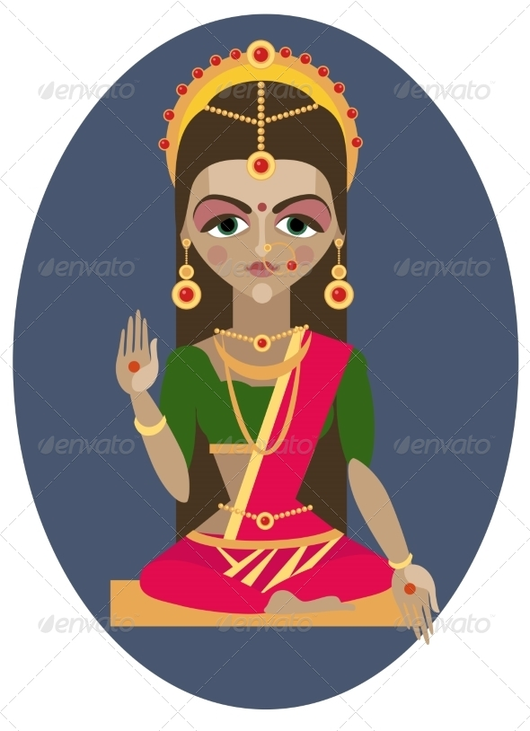GraphicRiver Parvati Deity Illustration 7705375