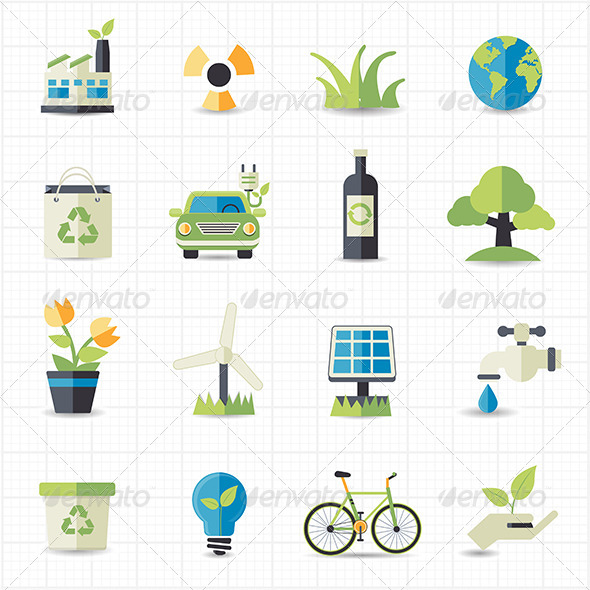 GraphicRiver Eco Friendly Icons 7705393
