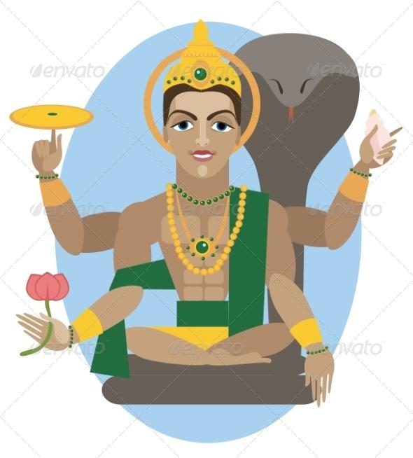 GraphicRiver Vishnu Deity Illustration 7705477