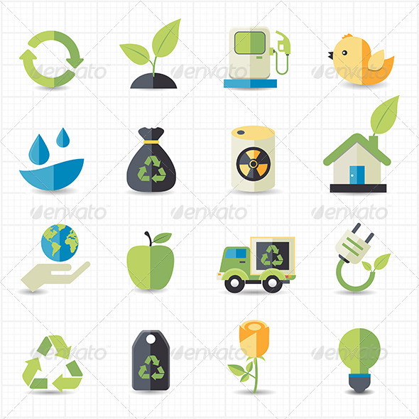 GraphicRiver Environment Icons 7705505