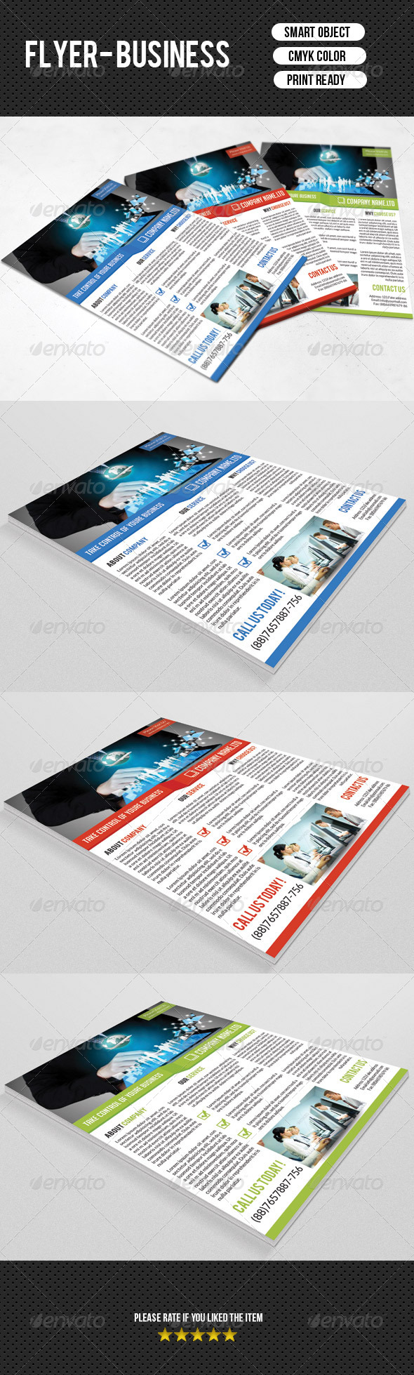 GraphicRiver Business Flyer Template 7705507