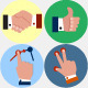 Hand Gestures Icons Set - GraphicRiver Item for Sale