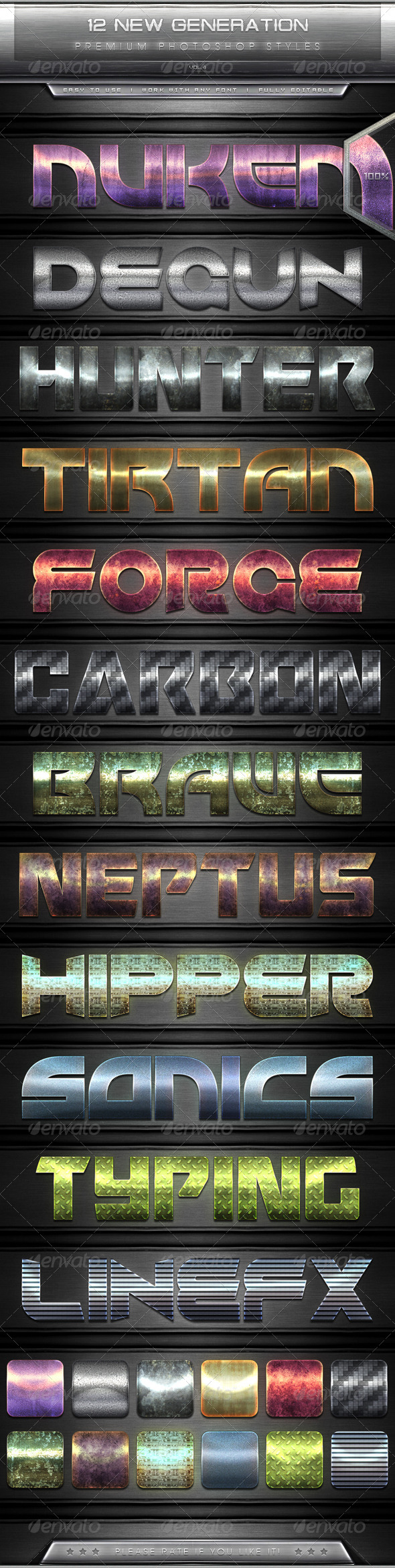 GraphicRiver 12 New Generation Text Effect Styles Vol.4 7705579