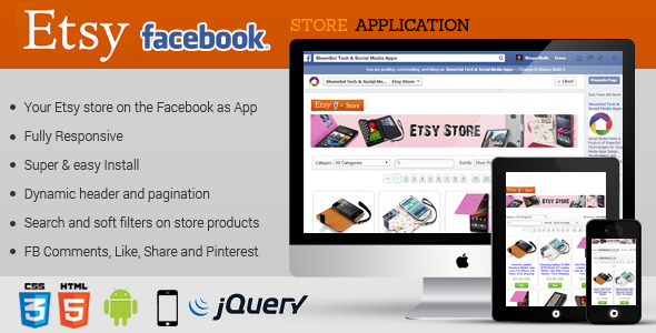 CodeCanyon Facebook Etsy Store Application 7705640