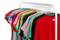 Colored shirts on hangers steel. - PhotoDune Item for Sale