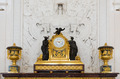 Antique clock in gold case in the interior Hermitage Museum - PhotoDune Item for Sale
