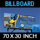 Construction Company Billboard Template Vol.2 - GraphicRiver Item for Sale