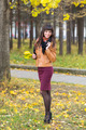 Slim pretty girl in an autumn forest - PhotoDune Item for Sale