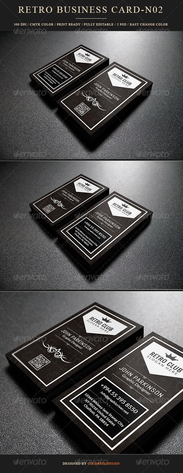GraphicRiver Retro Business Card 7683958