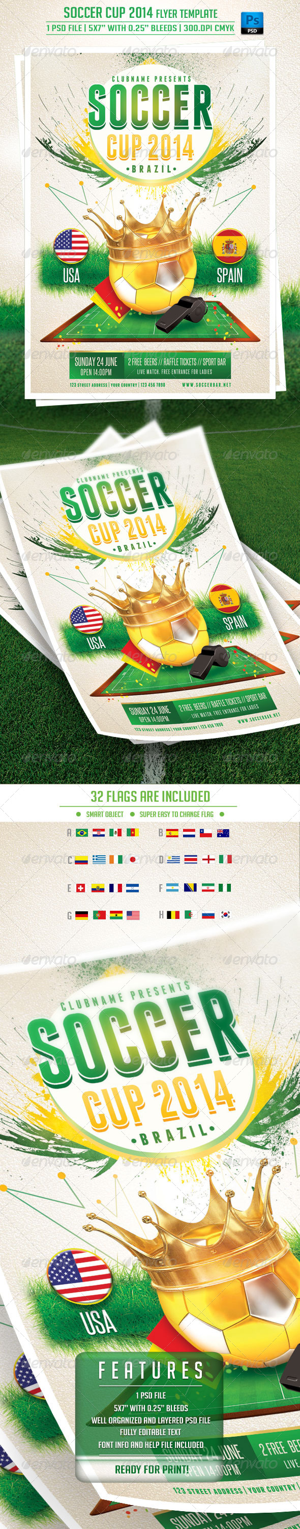GraphicRiver Soccer Cup Flyer Template 7707128