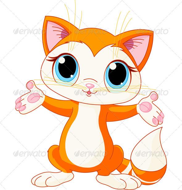 GraphicRiver Kitten Raising His Hands 7707743