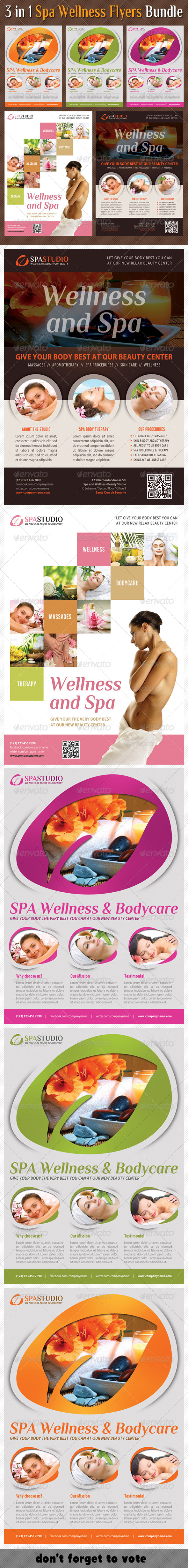 GraphicRiver 3 in 1 Spa Wellness Flyers Bundle 07 7707760