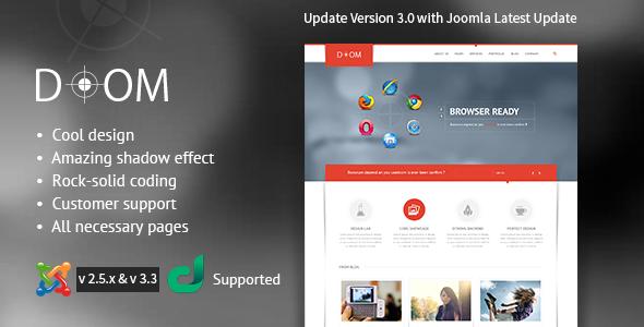 Doom Multipurpose Premium Joomla Template