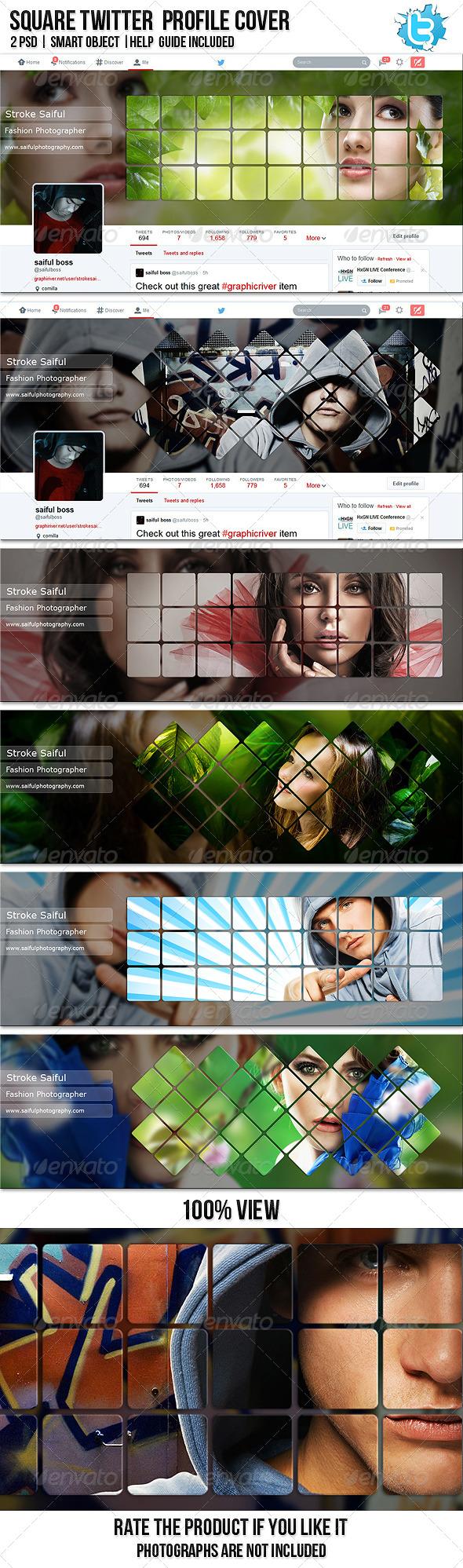 GraphicRiver Square Twitter Profile Cover 7707847