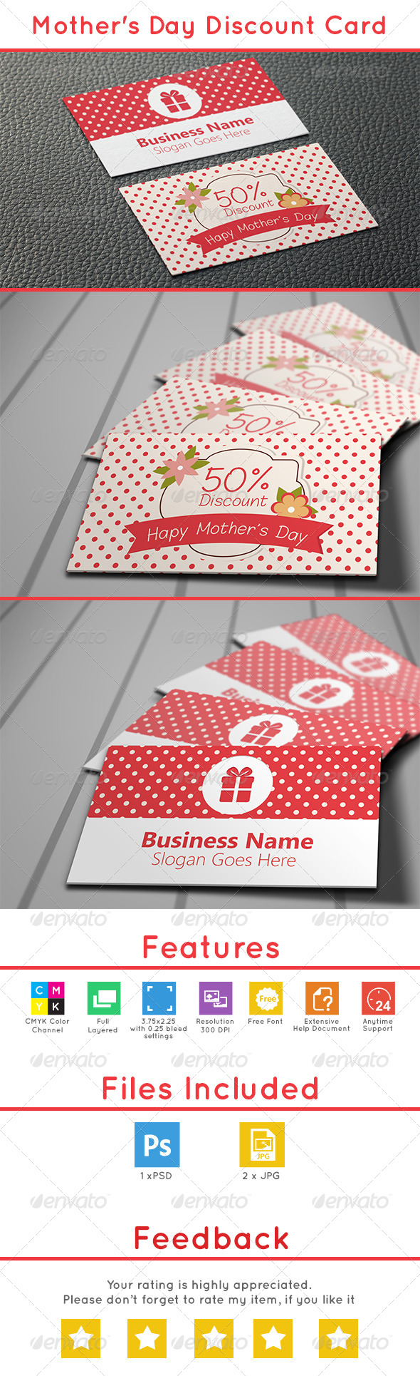 GraphicRiver Mother s Day Discount Card 7707892