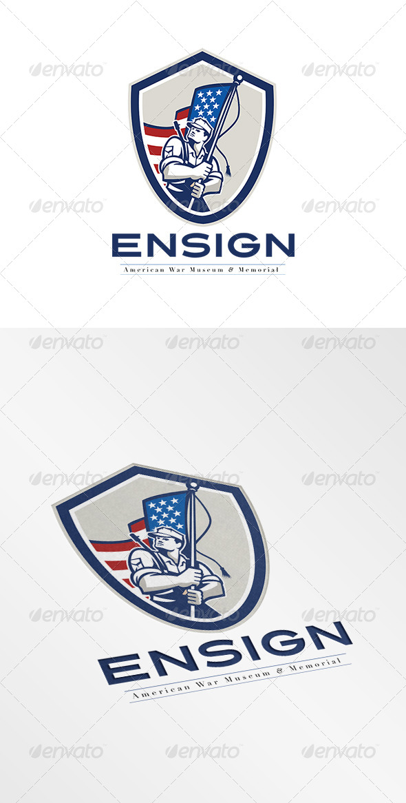GraphicRiver Ensign War Memorial and Museum Logo 7708460