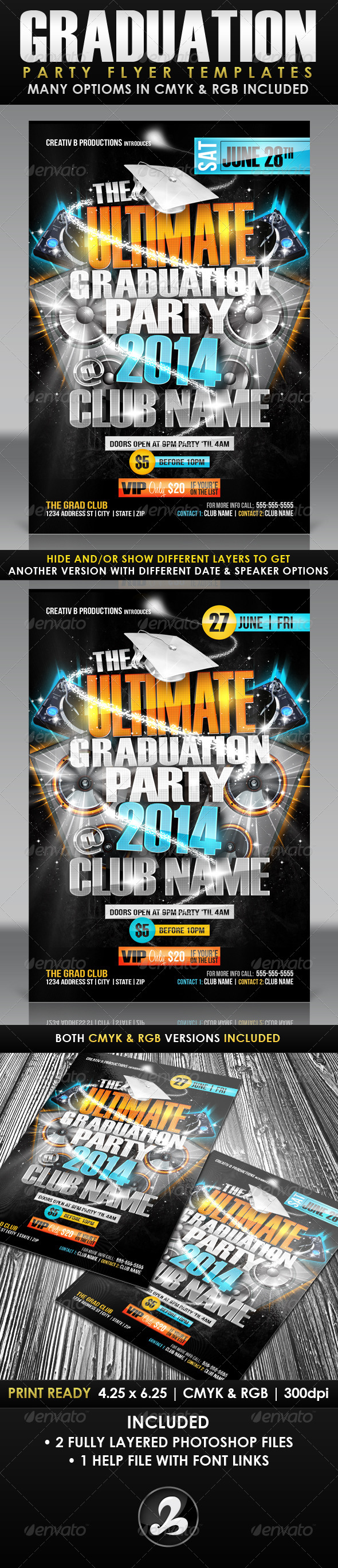 GraphicRiver Ultimate Graduation Party Flyer Templates 7676562