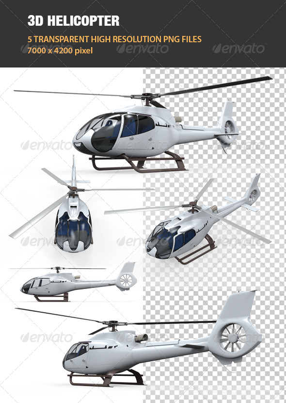 GraphicRiver 3D Helicopter 7708574