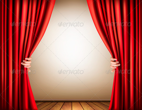 GraphicRiver Background with a Stage and a Curtain 7708692