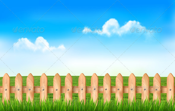 GraphicRiver A Fence in a Field 7708726