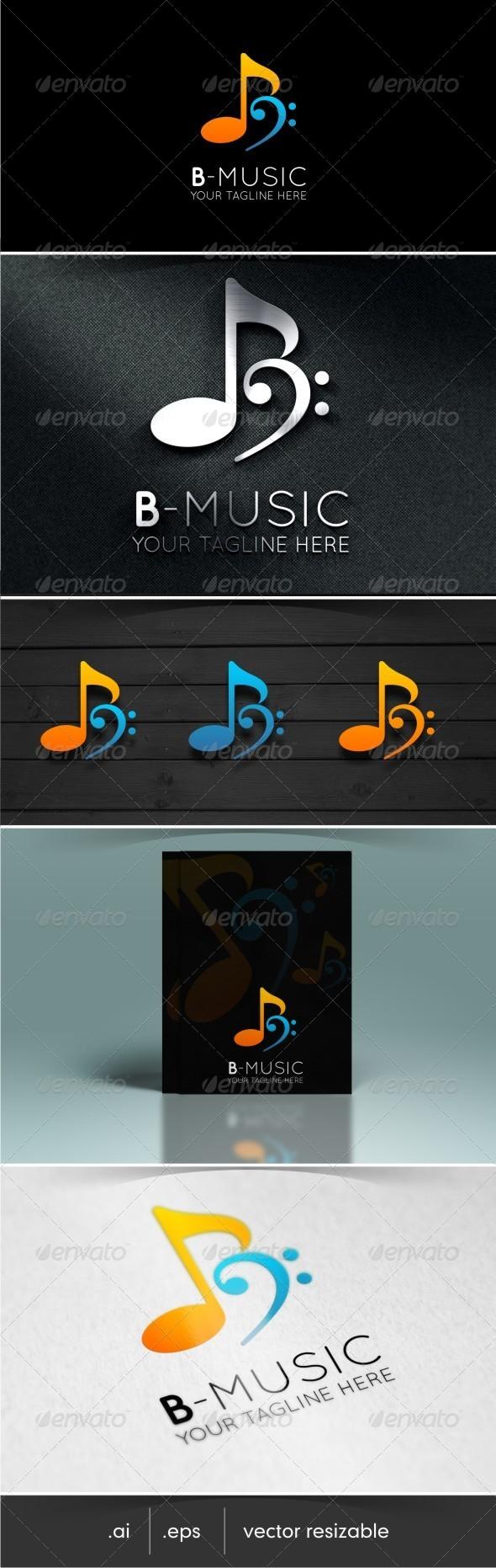 GraphicRiver Letter B Music Logo 7708731