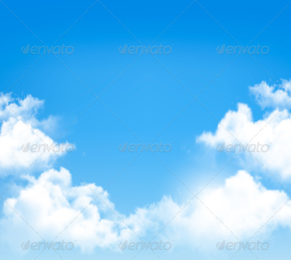 GraphicRiver White Clouds in a Blue Sky 7708880