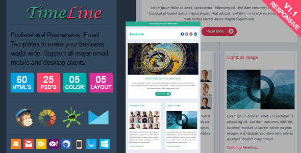 ThemeForest TimeLine Facebook Style Responsive Email 7708881