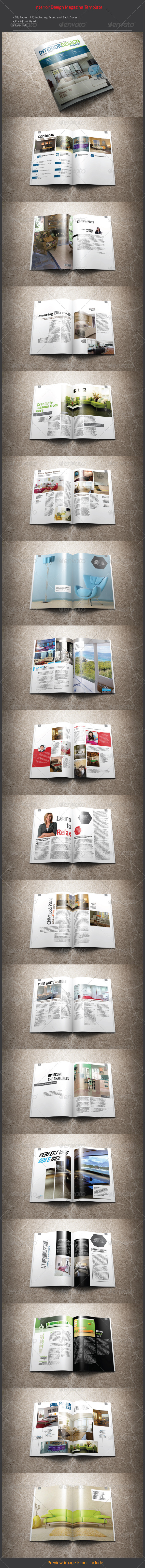 GraphicRiver Interior Design Magazine Template 7709191