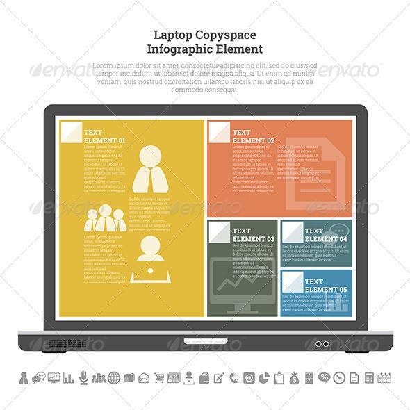 GraphicRiver Laptop Copyspace Infographic Element 7709195