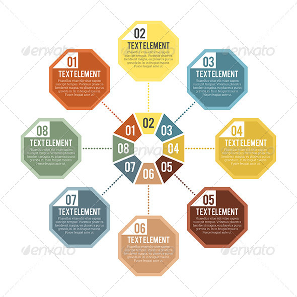 GraphicRiver Octagon Part Infographic 7709196