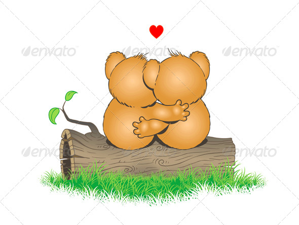 GraphicRiver Little Bears in Love 7709199