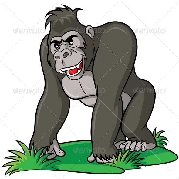GraphicRiver Gorilla Cartoon 7709925