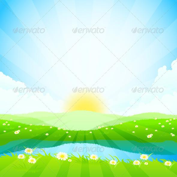 GraphicRiver Green Landscape 7709927