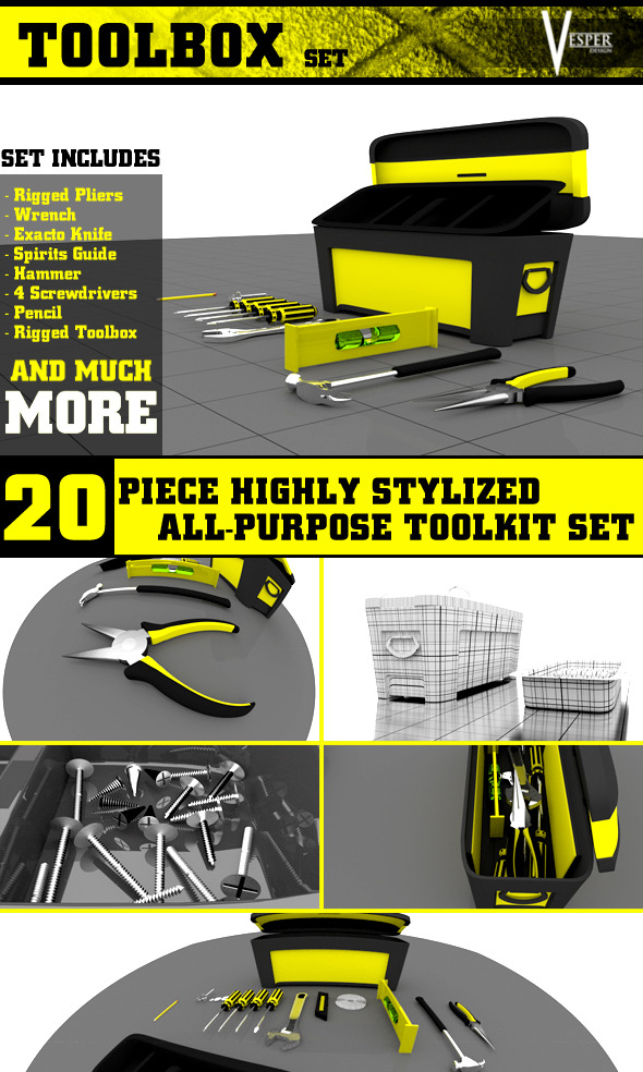 Toolbox Kit - 3DOcean Item for Sale